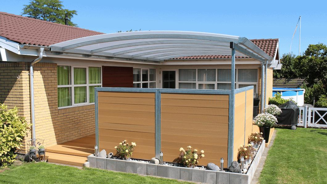 Terrasseoverdækning - overdækket terrasse i stål