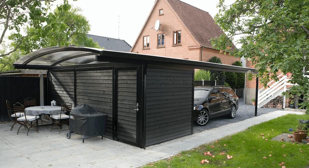 Storslået Carport med redskabsrum - Dansk design og kvalitet | Lyngsøe A/S GW58