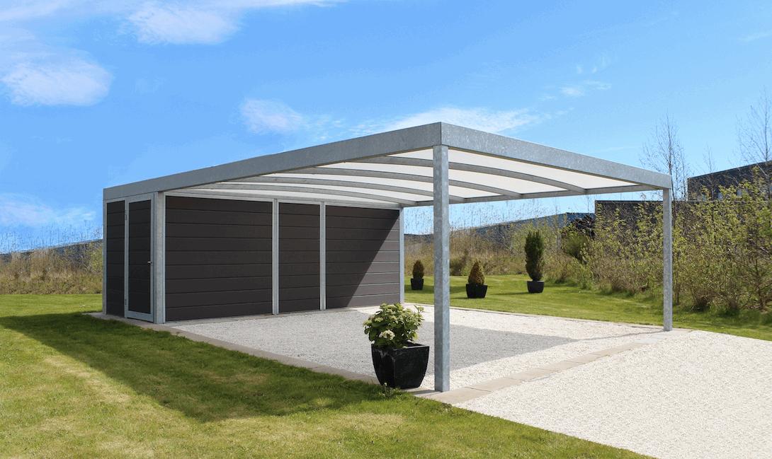 Nice Dobbelt carport stål - Dansk design og kvalitet | Lyngsøe A/S XY34