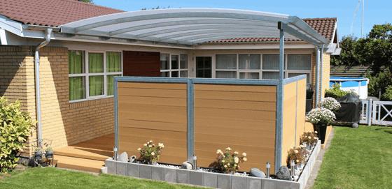 Velsete Overdækket terrasse i stål med 15 års garanti XY-36