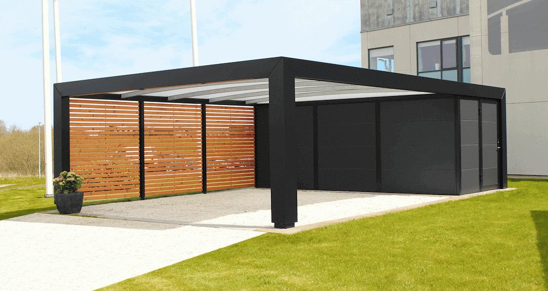 Seneste Carport med redskabsrum - Dansk design og kvalitet | Lyngsøe A/S FX35